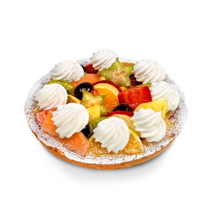Vers fruittaart croute met slagroom - 6 pers.