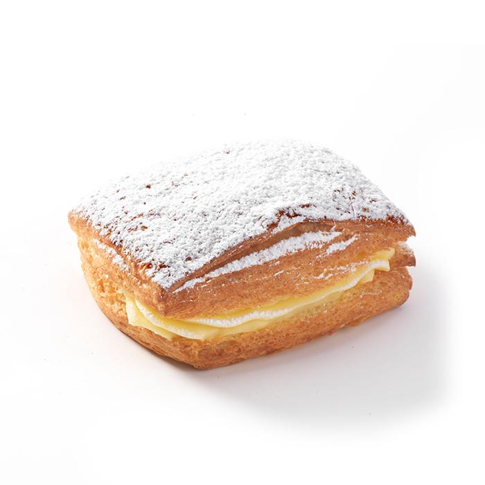 Vierkante crèmekoek suiker - 2 st.
